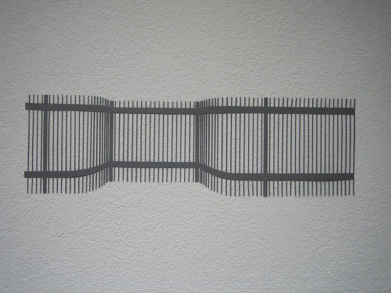 Raumzeichen Nr. 6  2005 Fotokarton grau 23 x 77 cm