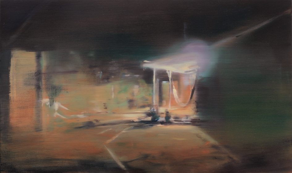 Nacht, 2012, 30 x 60 cm, Öl auf Holz