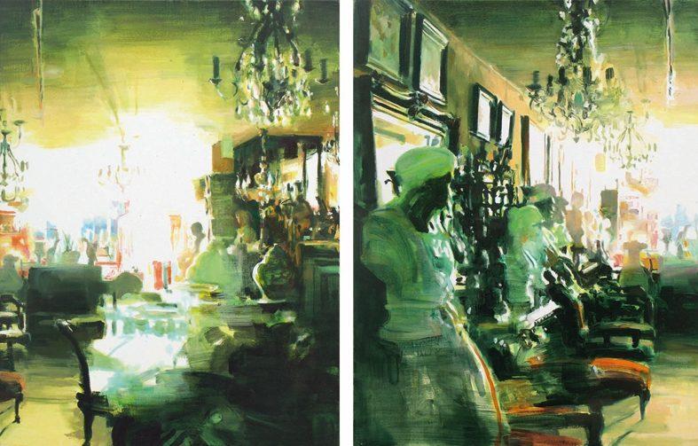 Partenances Anciennes, 2009, 2 x 50 x 65 cm, Acryl und Öl auf Leinwand
