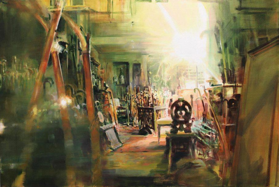 Workshop Brüssel, 2011, 80 x 120 cm, Acryl und Öl auf Leinwand