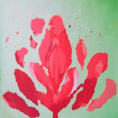 Acryl auf Papier, 75 x 75 cm