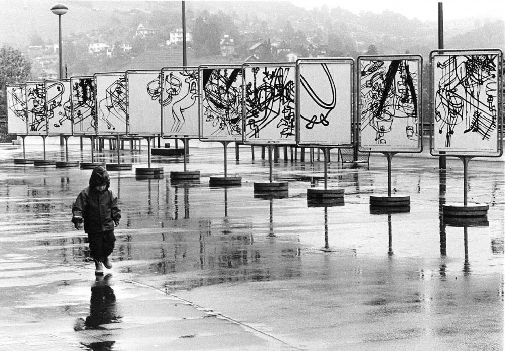 Bahnhofplatz Baden, Forum Claque, 1999 / Foto: Ute Schendel