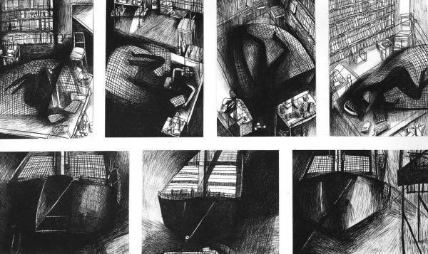 Wachskreide auf Papier, 44 x 32 cm, 1987/88 / Foto: Ute Schendel