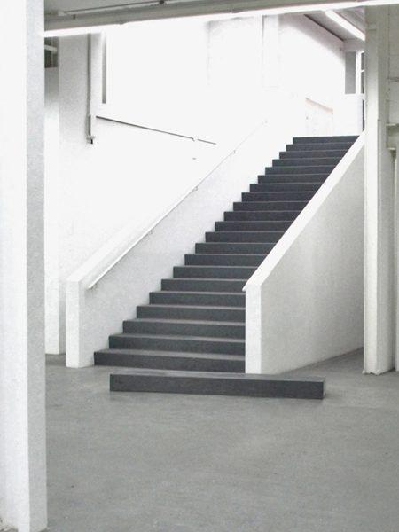 SCALINO INDIGESTO, 2007. Concrete, Colour, Dust.
