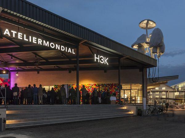 Eroeffnungsfeier Atelier Mondial, Freilagerplatz auf dem Dreispitz, November 2014