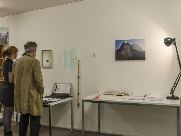 Im Atelier der Austauschkuenstlerin Babette Kleijn von Rotterdam, November 2014