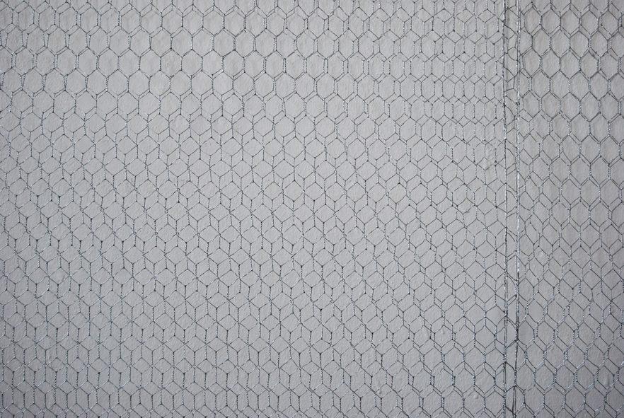 Distorsion (Detailansicht), Drahtgitter, H550/B500/T5cm, 2010