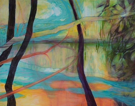 Landschaft, 2016, Öl auf Leinwand, 110 x 140 cm