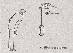 Aus der Serie «Sonderkarten», Mischtechnik auf Karton, 10,5 × 14,8 cm