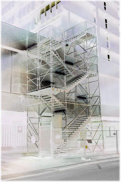 """""""Stairs"""" Basel, Industria Series 2016 Fotografie, pigmentierte Tinten auf Papier 48 cm x 32 cm"""
