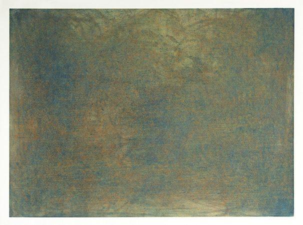 Blatt nr. 3, 2015, 70 x 50, Abrieb auf Papier (Mischtechnik)