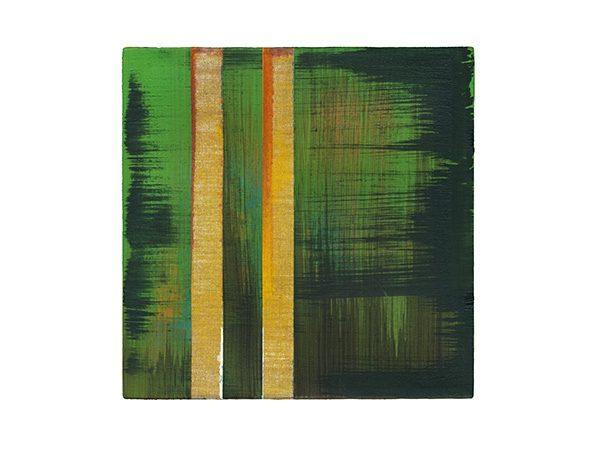 oT 6, 2014, 20 x 20, Pigmente Acryl Oel auf Leinwand