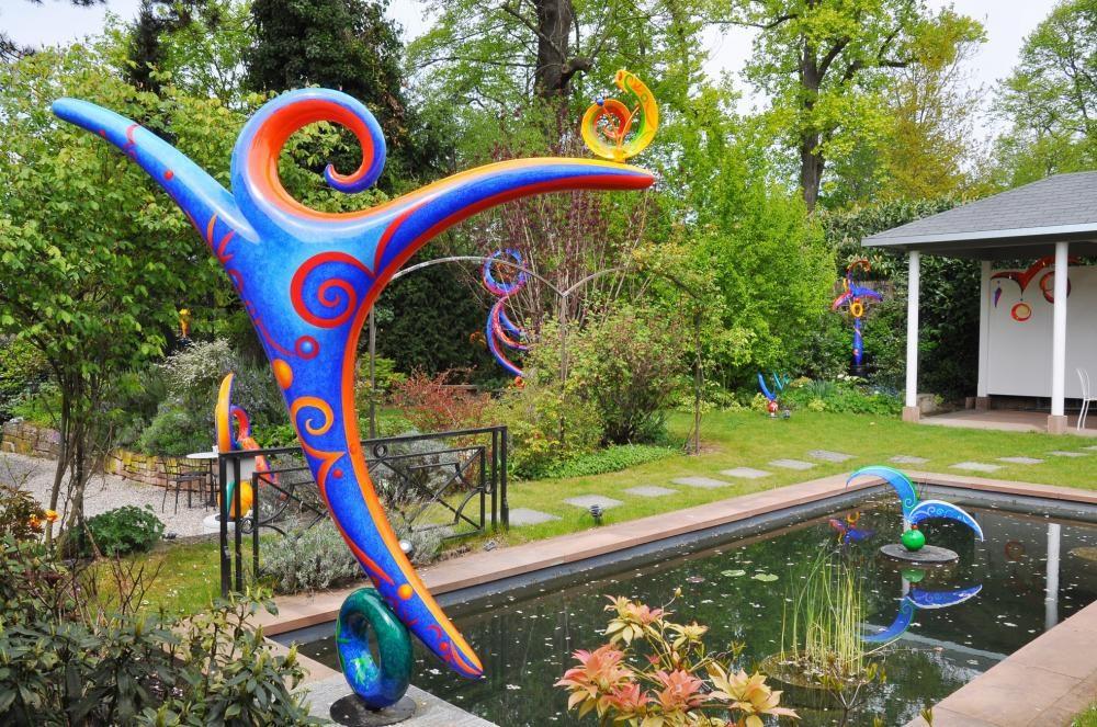 Garten des Künstlerhauses in Riehen, seit 2015 gegenüber der Fondation Beyeler, offen Mi-So 11-18:30