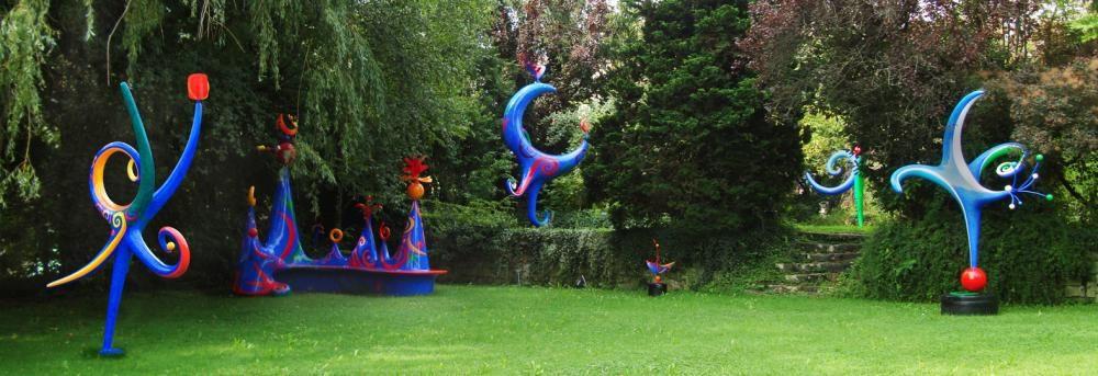 Skulpturengarten Frenkendorf, zu Besuchen jeden Freitag 16-18 Uhr und auf Anfrage