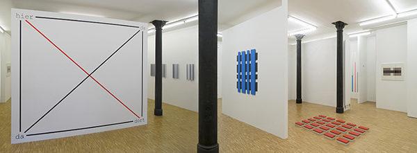 HIER DA DA DORT, 2016, Installationsansicht, Galerie Wenger, Zürich
