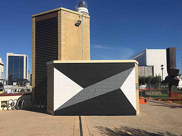 TILT, 2017, Wallpainting, AC4CA Urban Orchard Wall Project, Perth