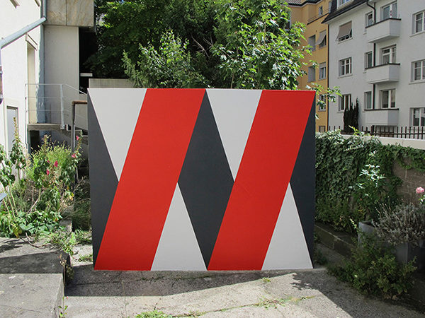DOUBLE X, 2017, Wandmalerei, Galerie Wenger, Zürich