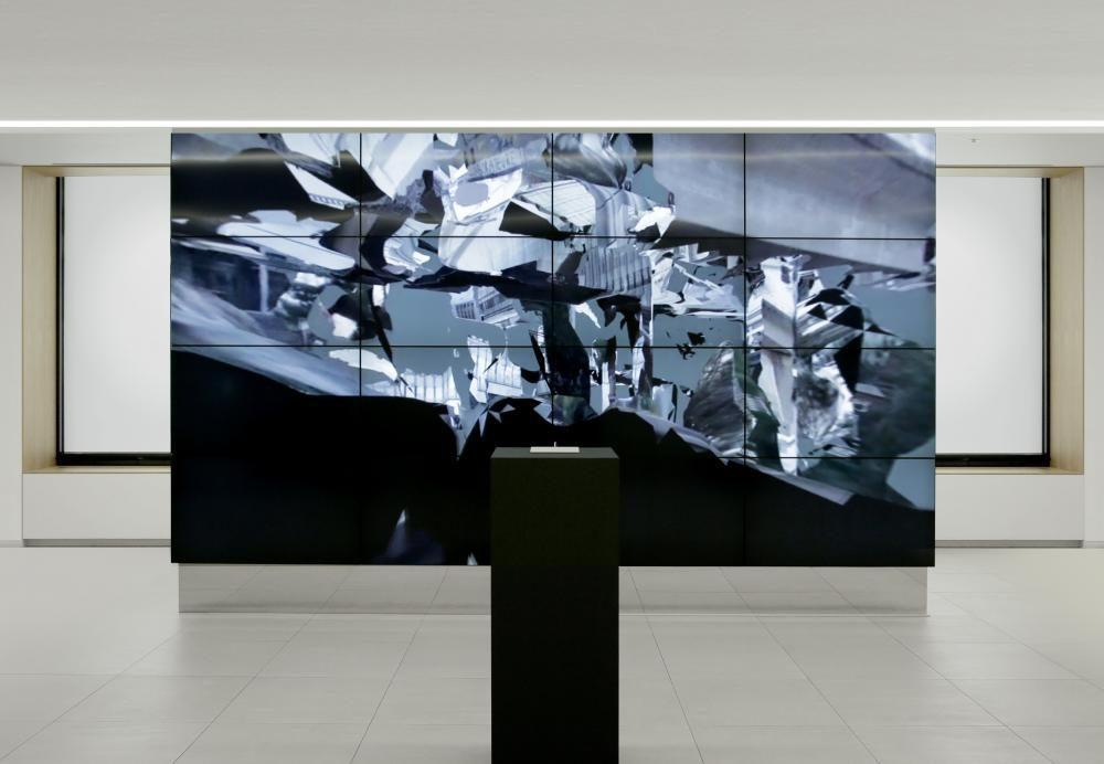 Arbeit «Zürich 2.0» in der Einzelausstellung «Unseen City», Seoul, 2017