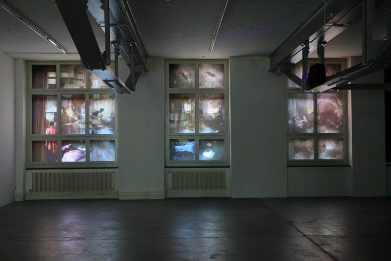 windows_1, 2013, Ausstellungsansicht double view mit Monika Rechsteiner, Forum Vebikus Schaffhausen