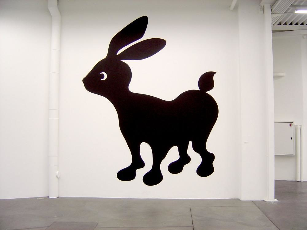 Salut mon lapin, 2004, Acryl auf Wand