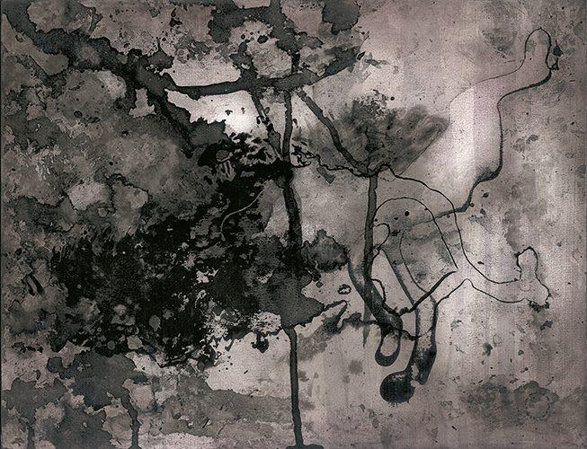 le désir, 2009, 27 x 35 cm, Tusche, Pigment, Aquarell, Rotwein