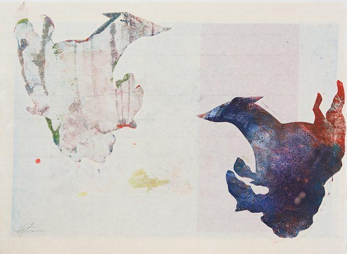 Hund - Hund -Vent, 2015, 50 x 64 cm, Tusche, Pigment auf Reispapier