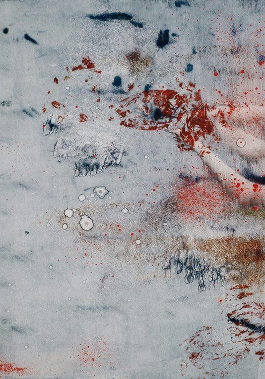 moonlight, 2013, 52 x 37 cm, Tusche, Pigment auf Reispapier