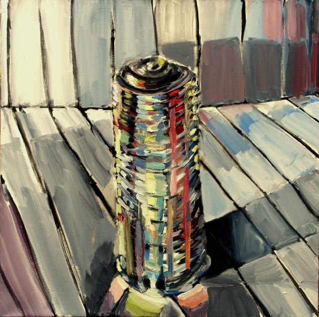 Glanz X, 1995, 100/100 cm, Öl/Leinwand