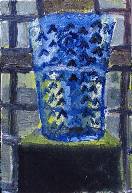 Das blaue Glas, 2010, 40/50 cm, Öl/Leinwand