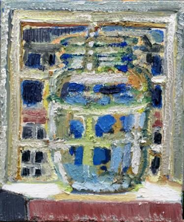 Konfiglas mit Lichtbrechung, 2012, 50/60 cm, Öl/Leinwand