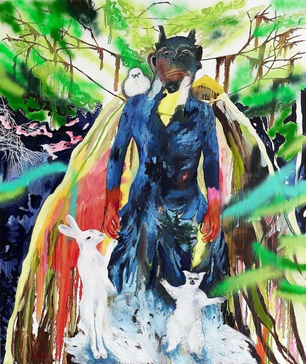 Waldmensch  2007 190x160cm   Oel auf Leinen