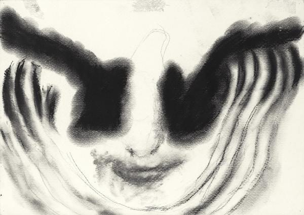 Happy 2011 21x29cm Kohle auf Fabriano Pittura Papier
