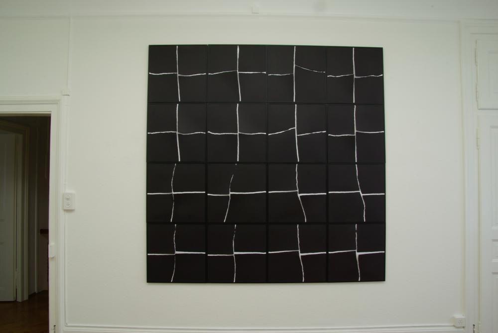 """""""48 strappi"""", 2005, 200x200 cm, Collage"""