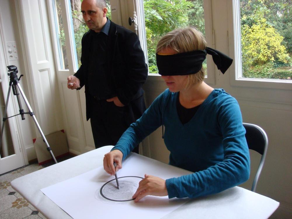 """Experiment der Blinden Malerei"",  25. Oktober 2009 (Publikumsaktion)"
