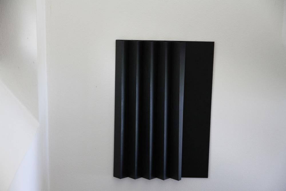 """""""Linee d'ombra"""", 2009, 60,5x41,4,x4 cm, Acryl auf Forex"""