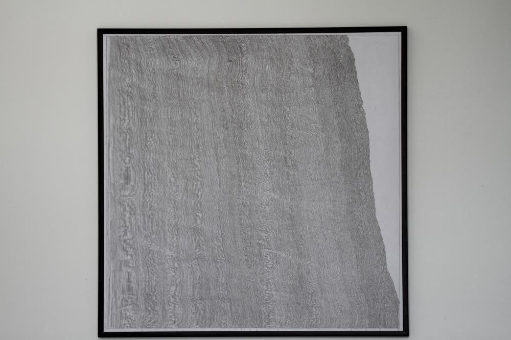 """""""Linee Caotiche 3"""", 50x50 cm, Graphit auf Papier"""