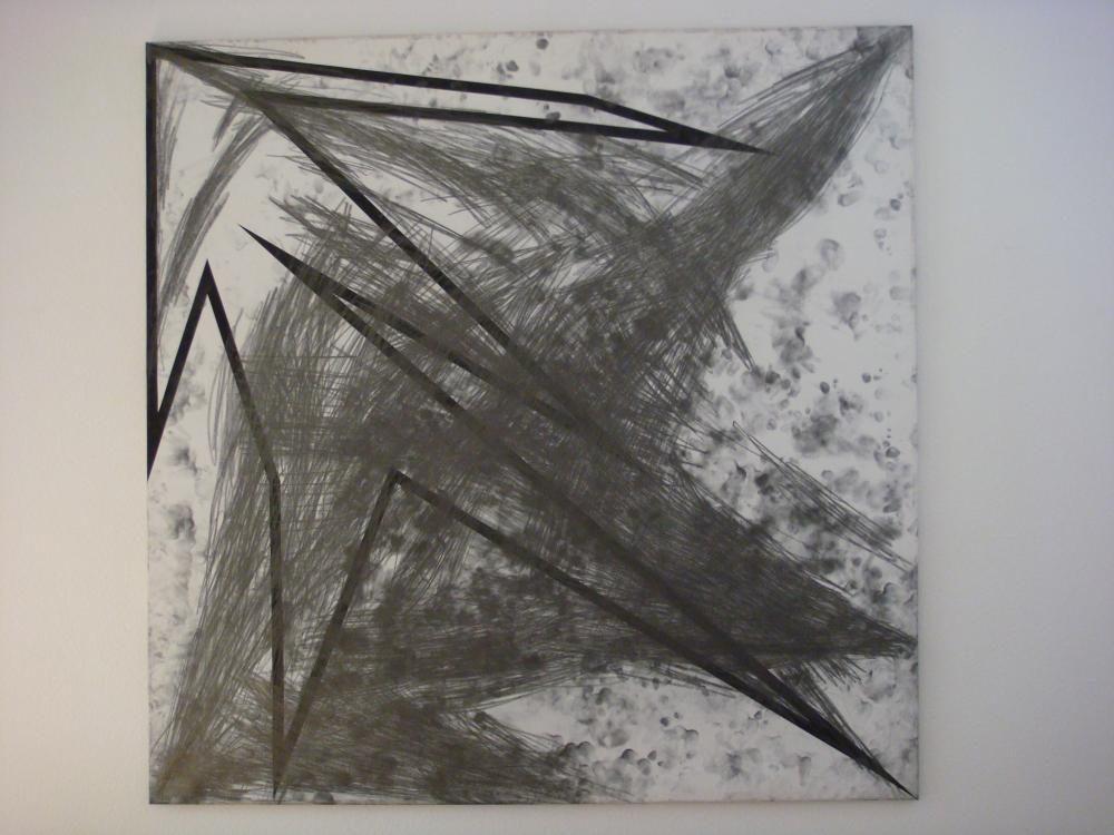 """""""Prova di memoria"""", 1998, 200 x 200 cm. Tempera und Graphit auf Leinwand"""