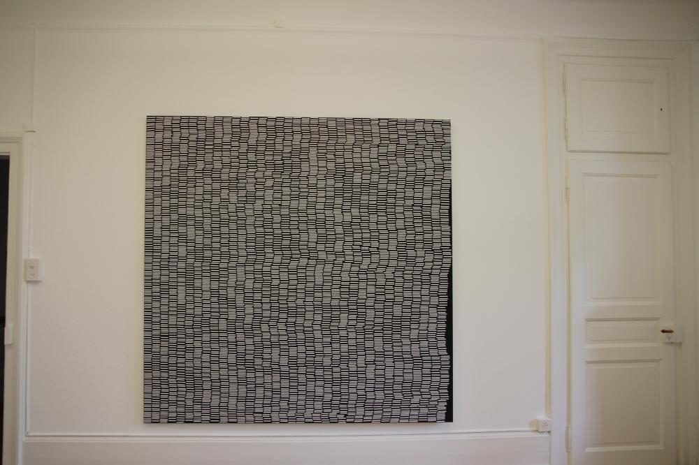 """Segmenti"", 2013, 200 x 200 cm, Gouache auf Leinwand"