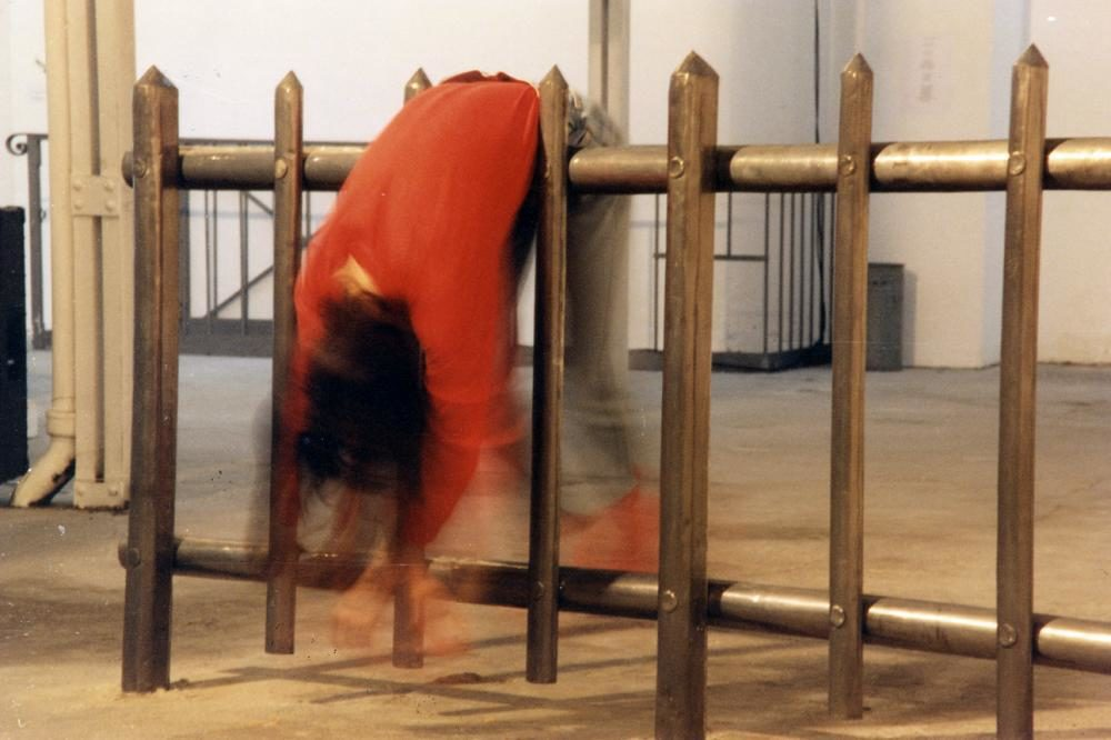 "Multimedia-Performance ""Hag\"", 1997, Foto: Jean-Pierre Addor"