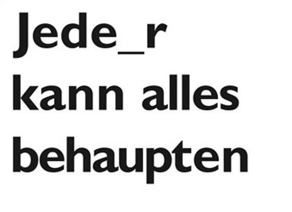 """""""Jede_r kann alles behaupten"""", Postcard, 2014 (erhältlich im dock)"""