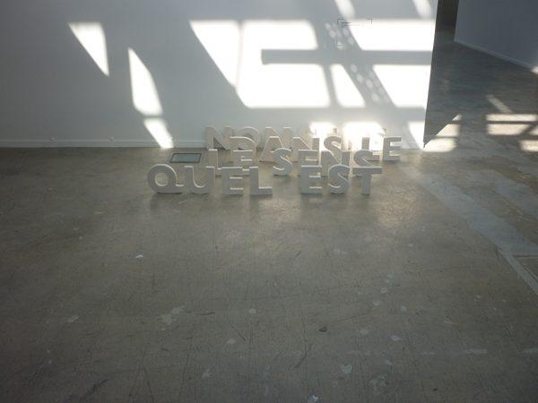 """""""La dictature de l'alphabet - Quel est le sens dans le nonsens"""" , La Kunsthalle Mulhouse"""