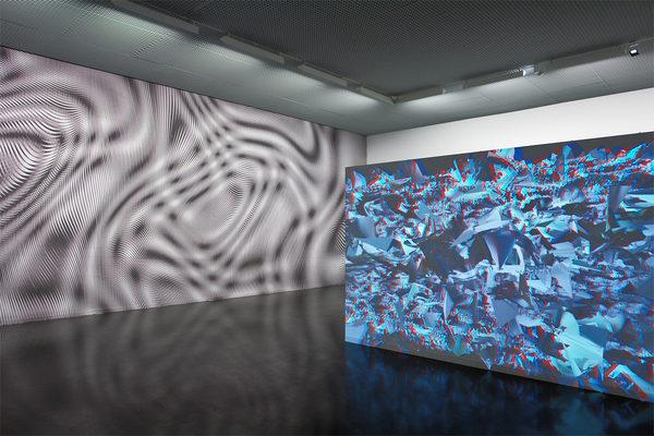 """Ausstellungsansicht Kunsthaus Wiesbaden """"out of shape"""" mit Dirk Koy"""