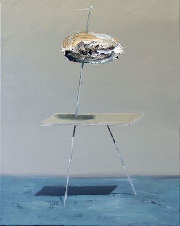 Sculpture No. 15 (Desert Chrome), oil on canvas, 40x50cm 2019