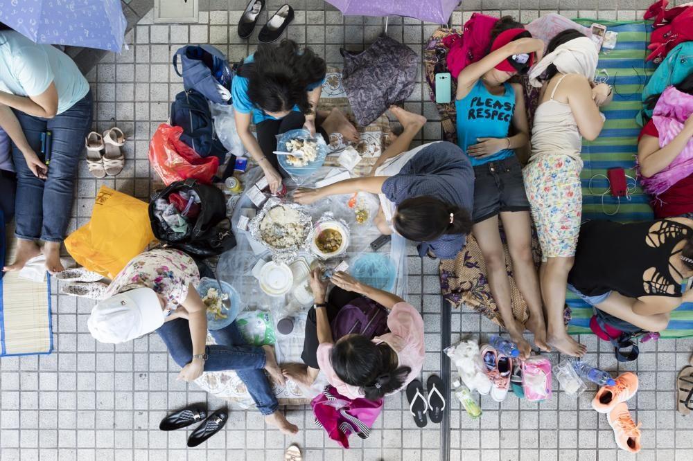 Domestic Workers, 2016, 60 x 80 cm / Fotografie Dia Sec