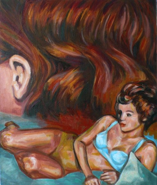 Bis zum Morgengrauen, 2015, 54.5 x 46 cm, Öl auf Baumwolle