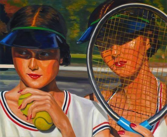 Les deux soeurs, 2005, 90 x 110 cm, Öl auf Baumwolle