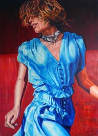 Hodlers moderne Frau, 2017, 140 x 100 cm, Öl auf Baumwolle