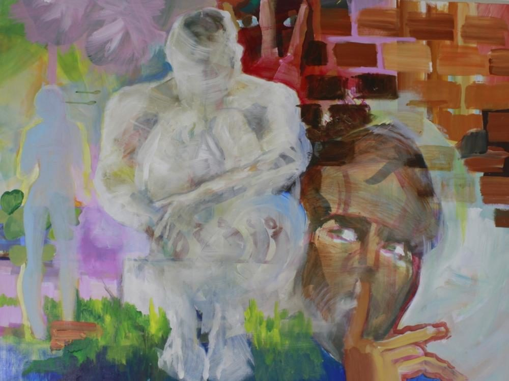 psst..., 120 x 90 cm, acryl auf leinwand