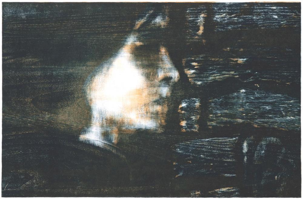RANA, Holzschnitt 74 x 50, drei Druckstöcke, 2015