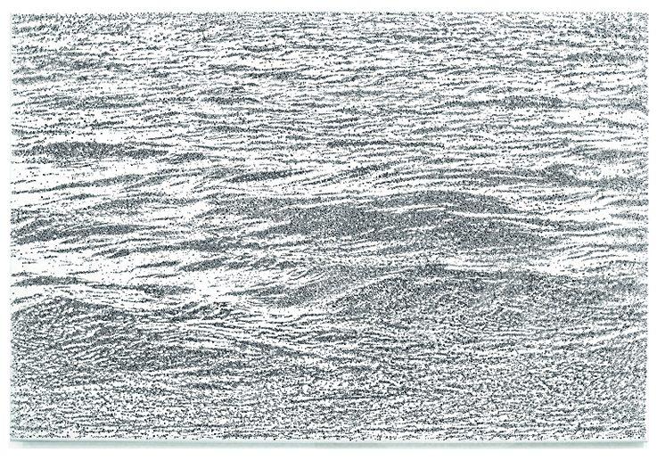 Up-down 2. 2005_Tusche auf Polytoile_107 X 144 cm